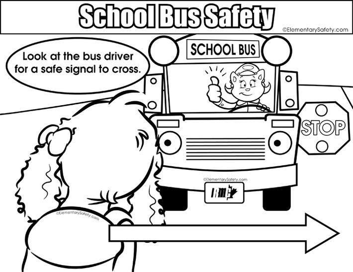 School Bus Safety Coloring Sheet To Print