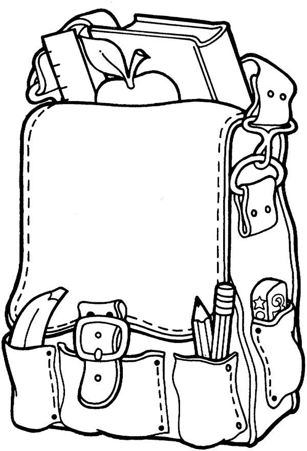 School Supplies Coloring Pages Printable