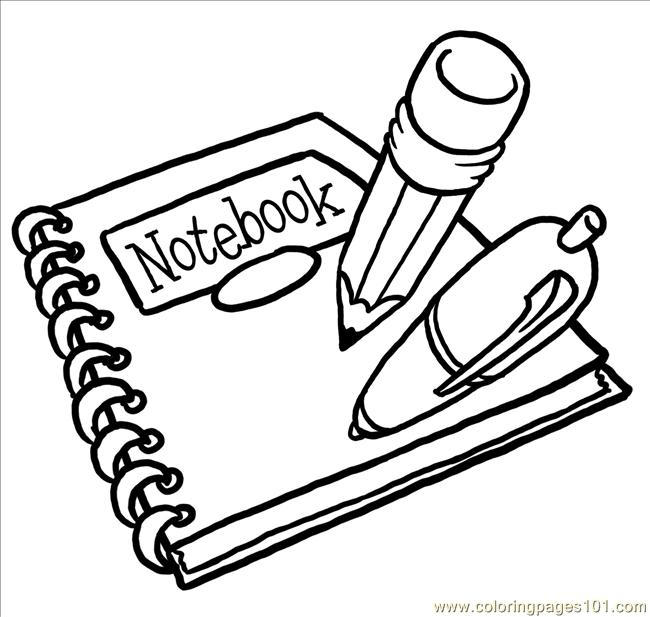 School Supplies Coloring Pages To Print