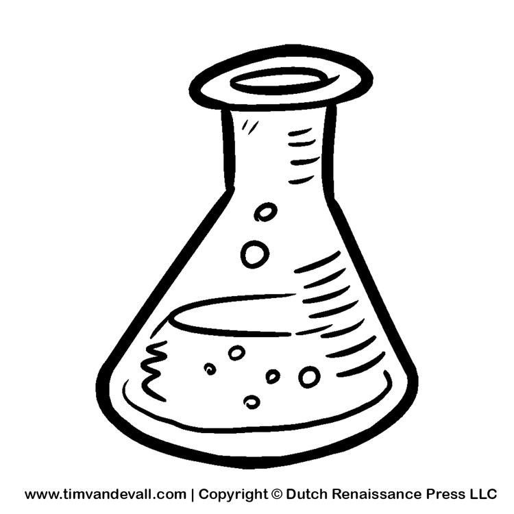 Science Beaker Coloring Pages For Child