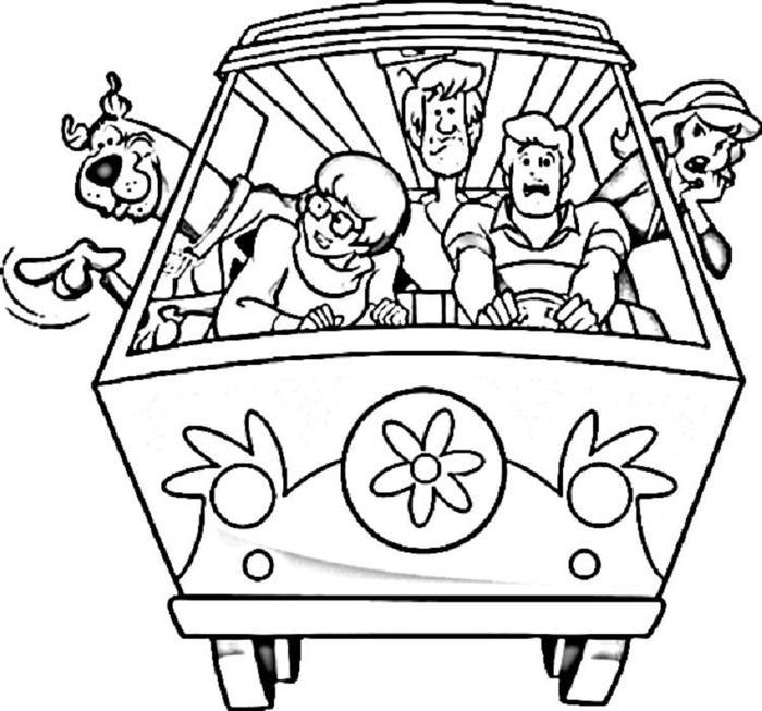 Scooby Doo Coloring Pages Free
