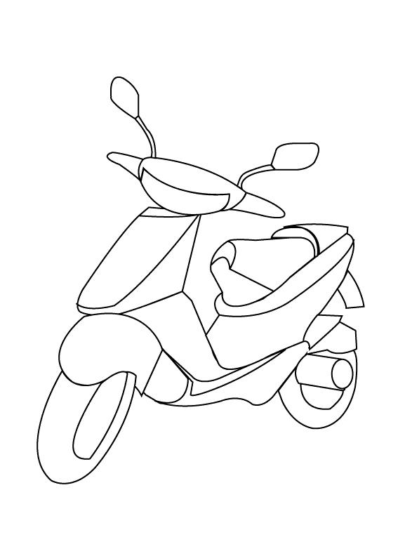 Scooter Preschool Coloring Pages Printable Free