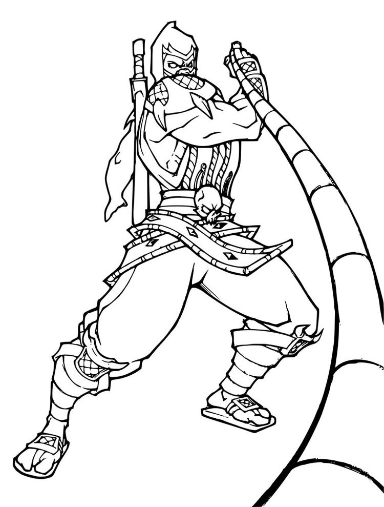 Scorpion Mortal Kombat Coloring Pages