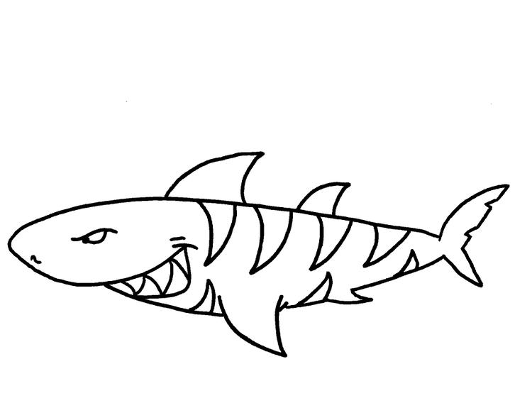 Scray Shark Coloring Pages