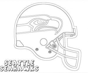 Seattle seahawks helmet coloring pages