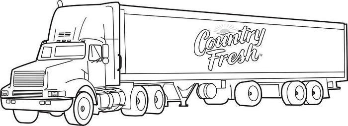 Semi Truck Coloring Pages