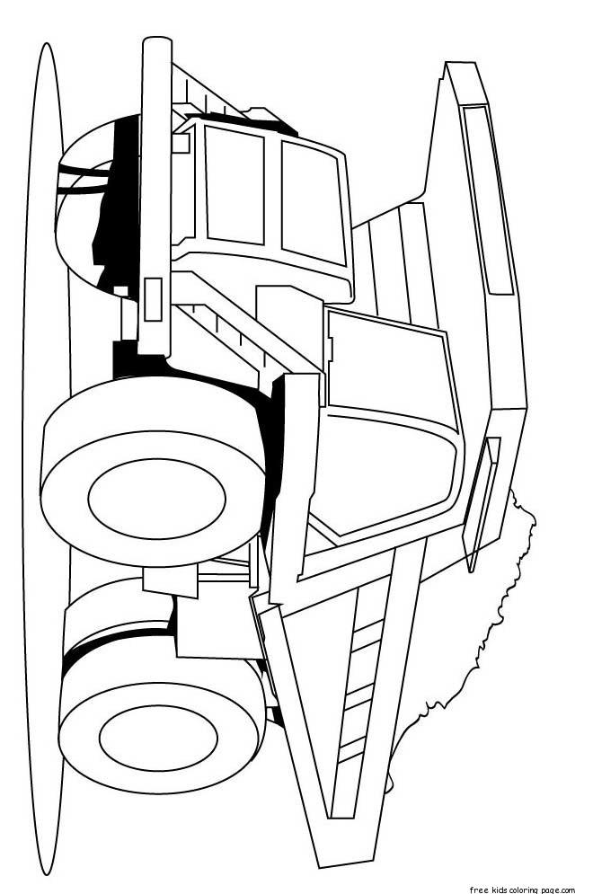 Semi Truck Printable Coloring Pages