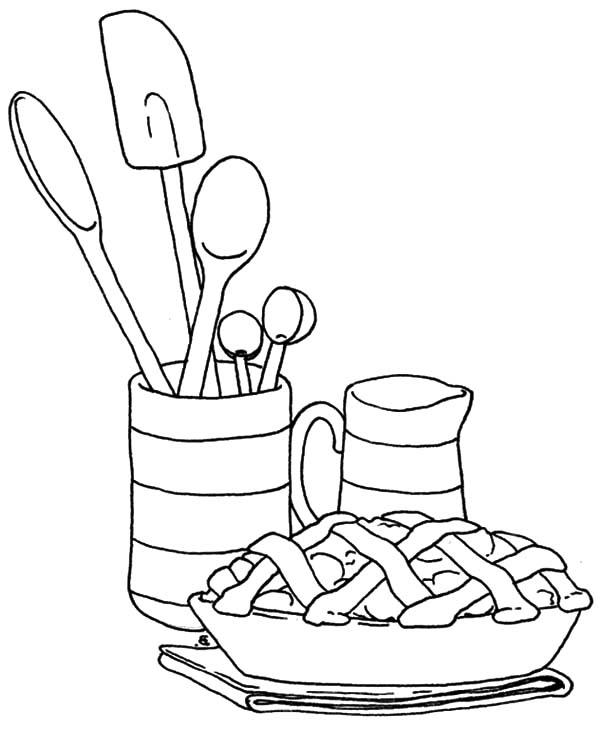 Serving Apple Pie Coloring Pages