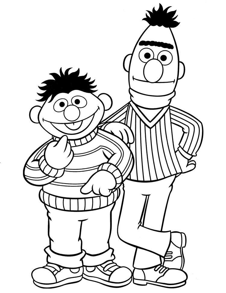 Sesame Street Coloring Pages Ernie And Bert