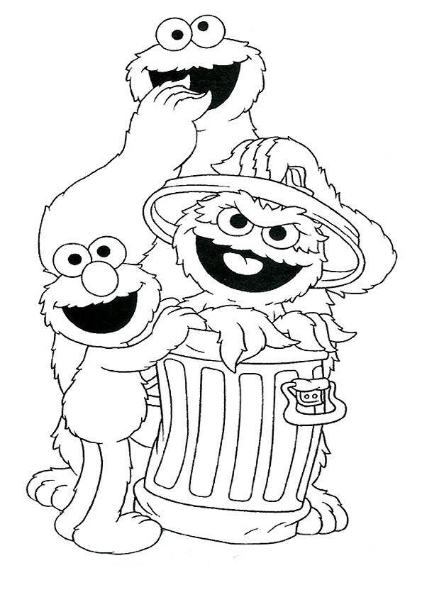 Sesame Street Coloring Pages Printable Free