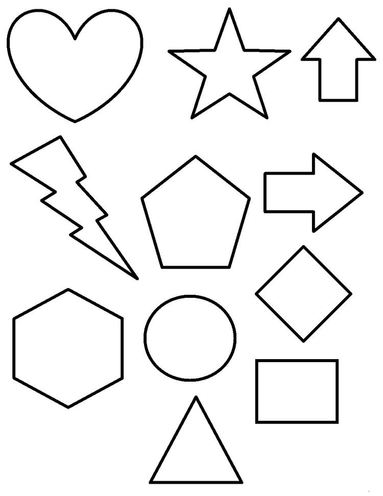 Shape Coloring Pages For Preschool