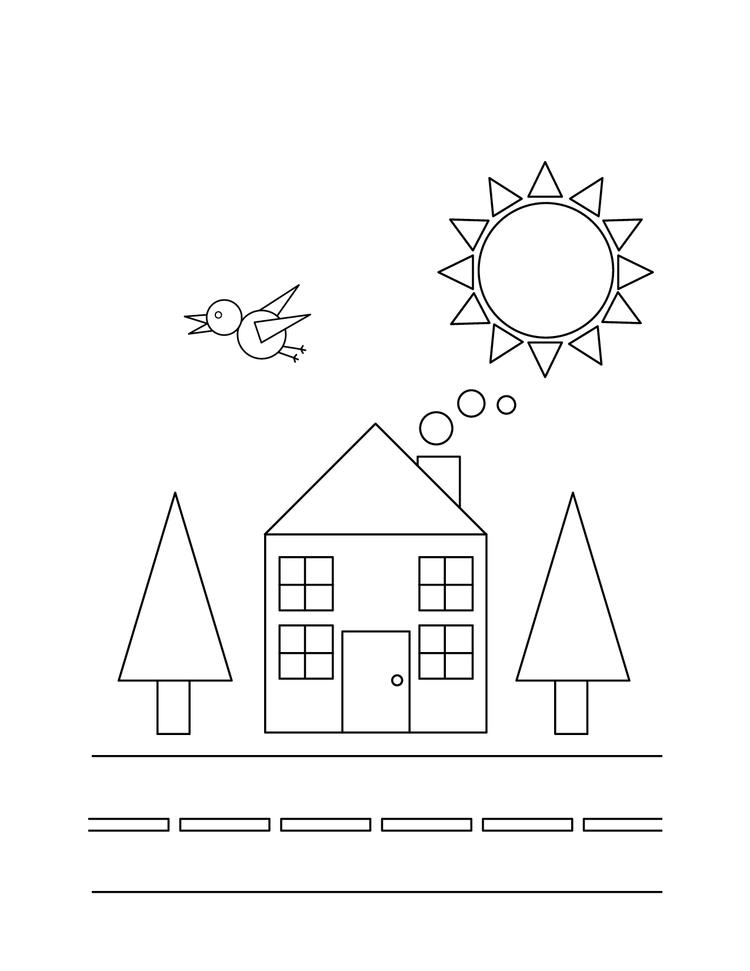 Shape Coloring Pages In Town
