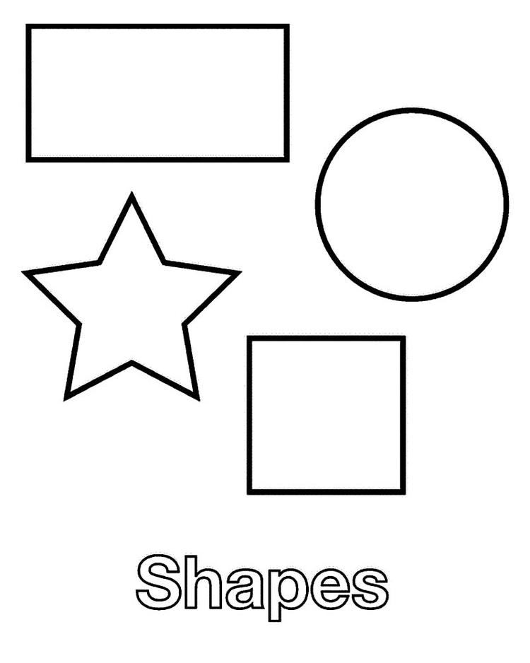 Shape Coloring Pages To Print