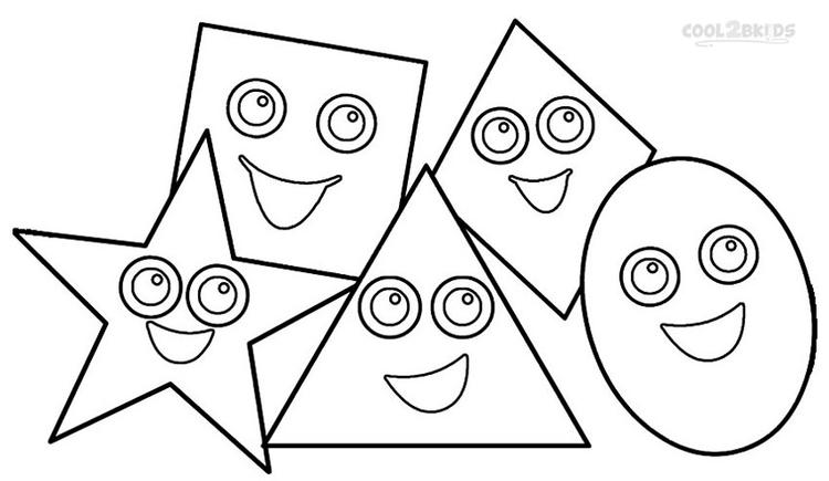 Shapes Coloring Pages For Toddlers