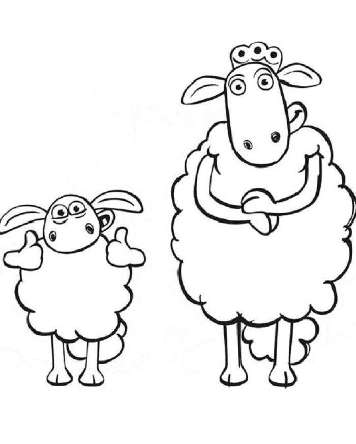 Shaun The Sheep Coloring Pages Printable