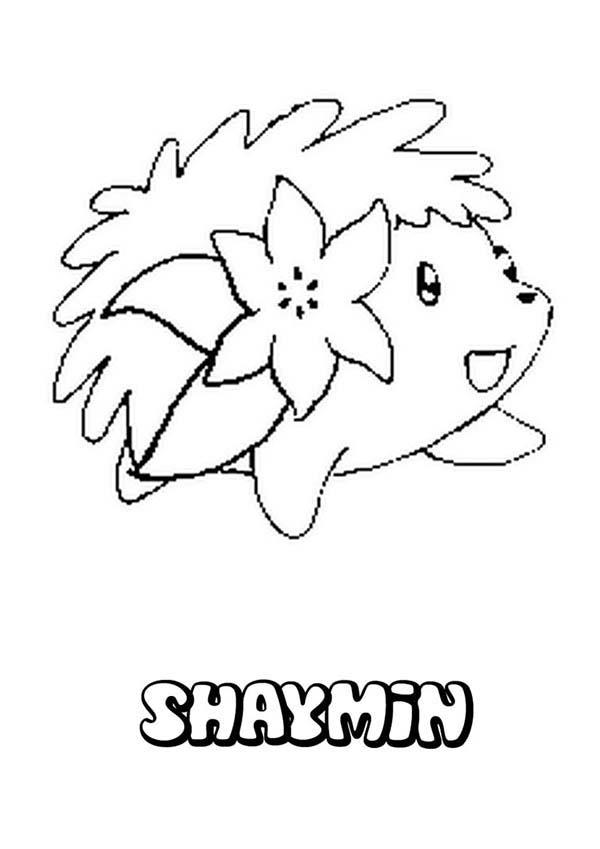 Shaymin Hedgehog Pokemon Coloring Pages
