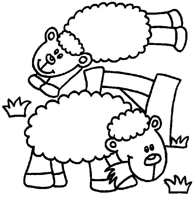 Sheep Coloring Pages Eating Grass