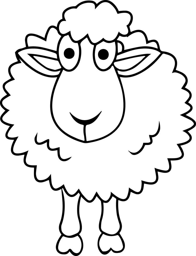 Sheep Coloring Pages Free For Kids