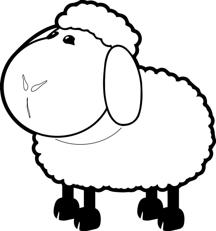 Sheep Coloring Pages Free To Print