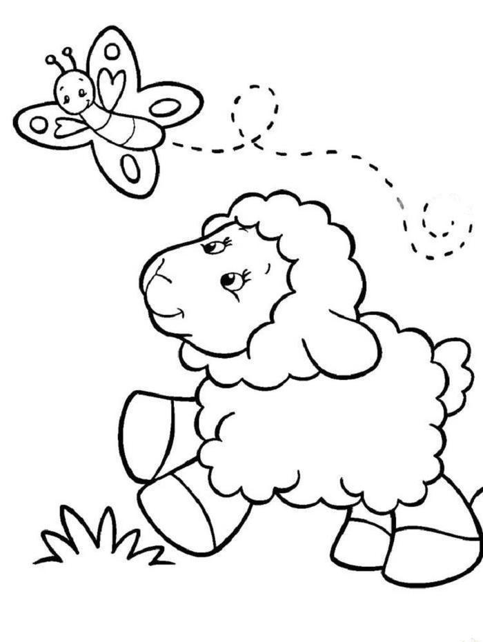 Sheep Coloring Pages Spring