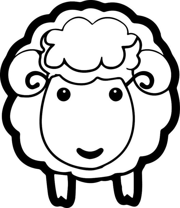 Sheep Face Coloring Pages