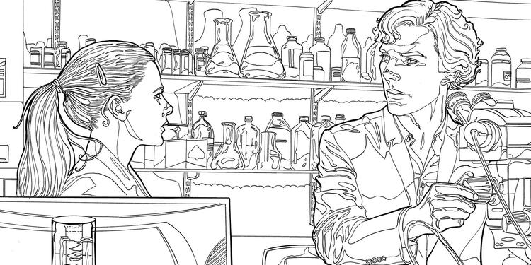 Sherlock Mind Palace Official Colouring Book
