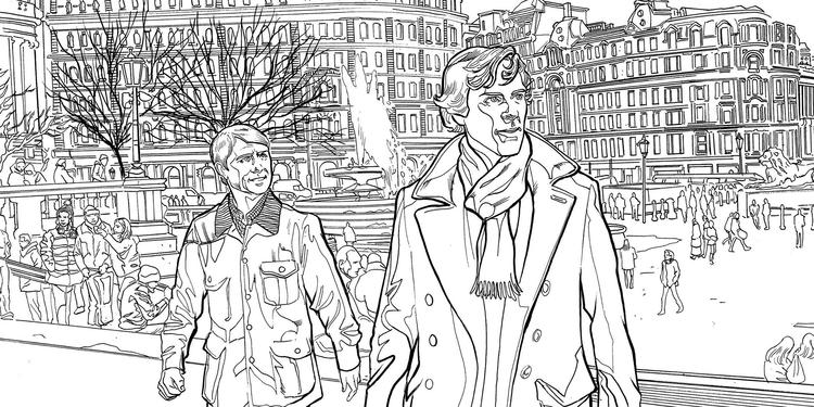 Sherlock Mind Palace Official Colouring Sheet