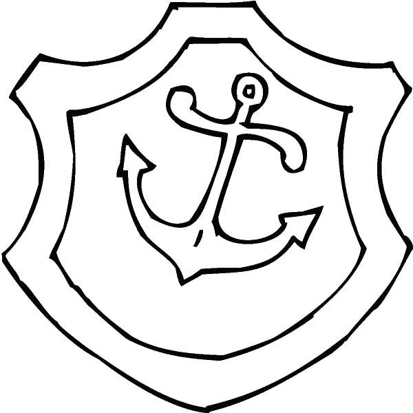 Shield With Anchor Picture Coloring Pages