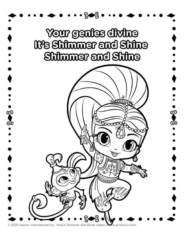 Shimmer And Shine Coloring Book For Kids
