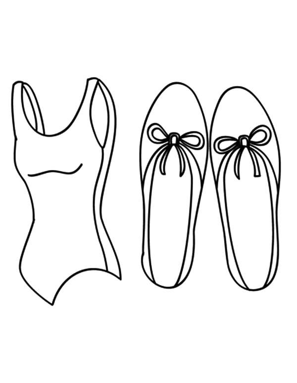 Shirt And Ballerina Shoes Coloring Pages
