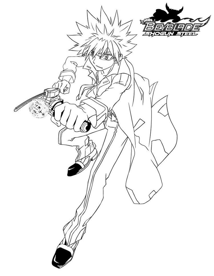 Shogun Steel Character Beyblade Coloring Pages