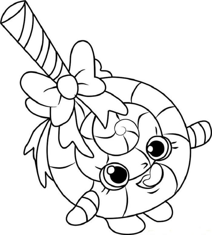 Shopkins Candy Coloring Pages