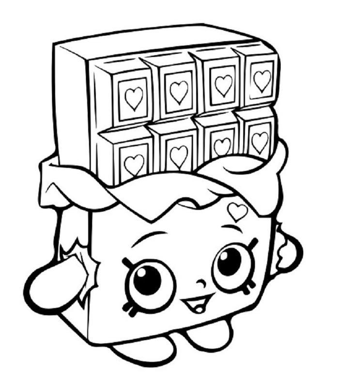 Shopkins Coloring Pages Chocolate
