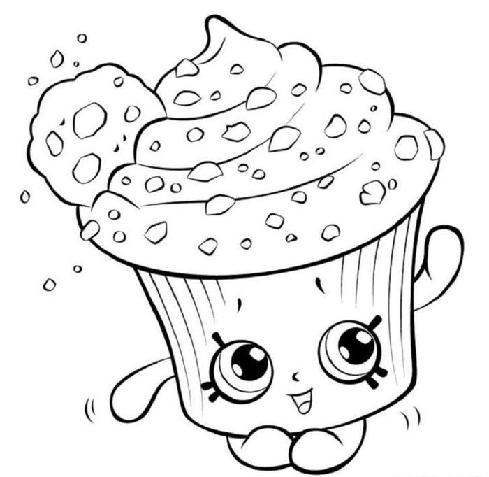 Shopkins Coloring Pages Cupcake