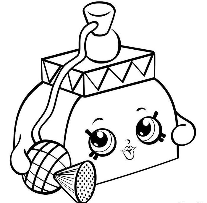 Shopkins Coloring Pages Perfume