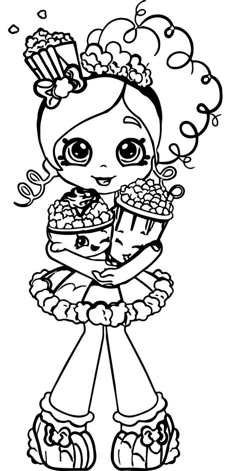 Shopkins Popcorn Coloring And Activity Page