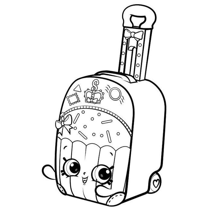 Shopkins World Vacation Coloring Pages