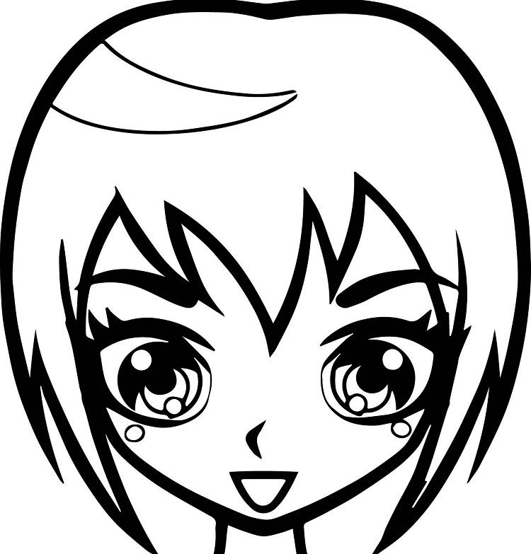 Short Hair Coloring Pages