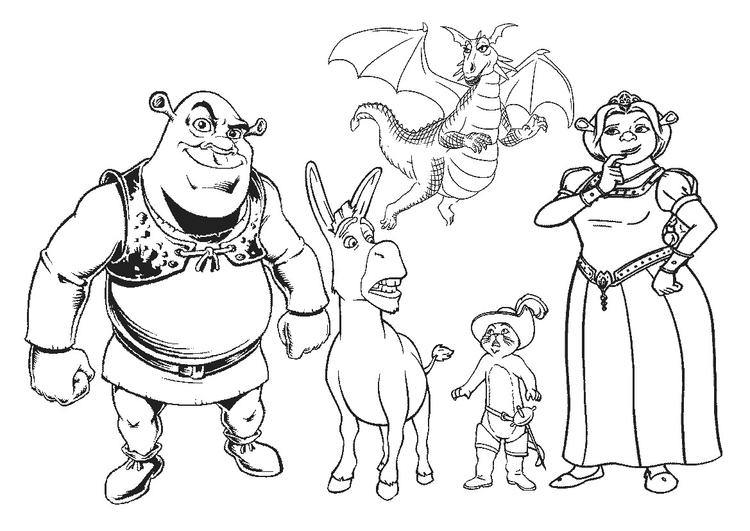 Shrek Coloring Pages All Characters