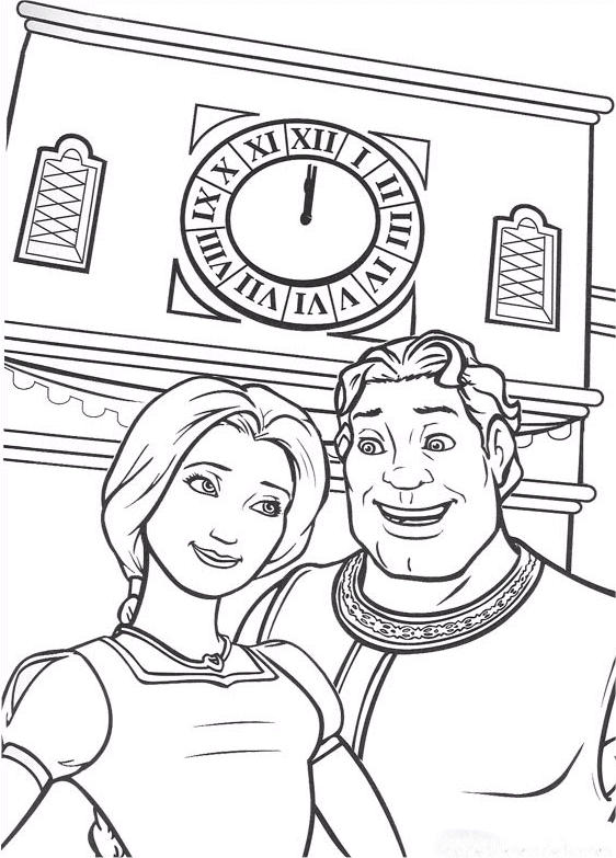 Shrek Coloring Pages And Fiona Human Form