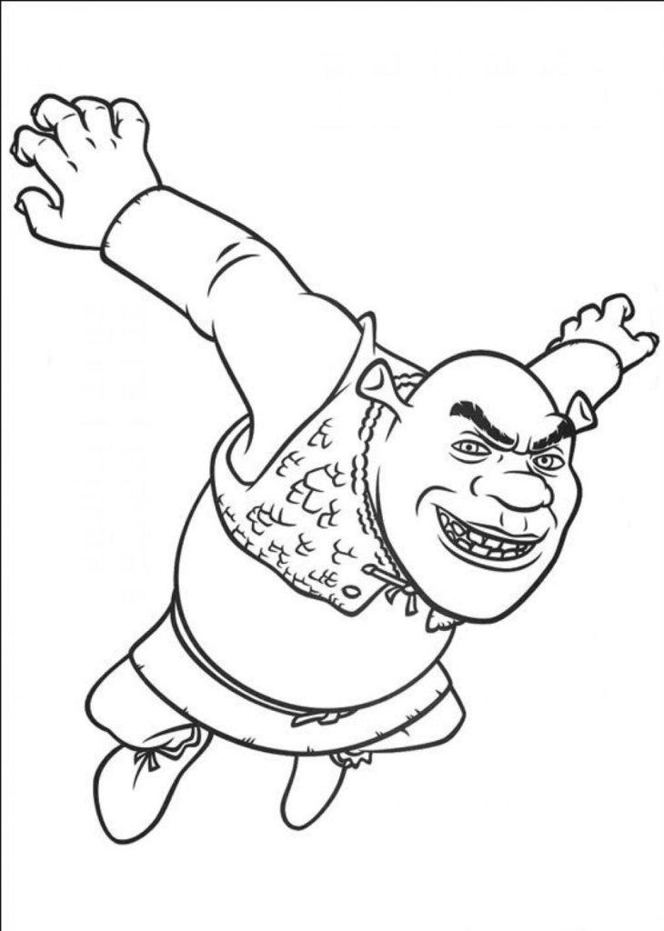 Shrek Coloring Pages To Print