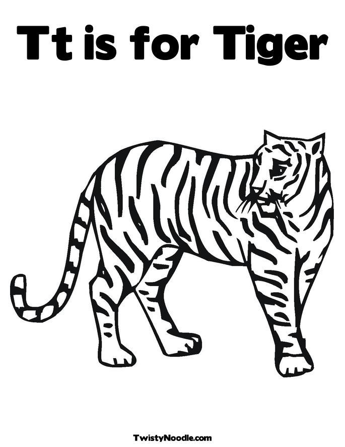 Siberian Tiger Coloring Pages