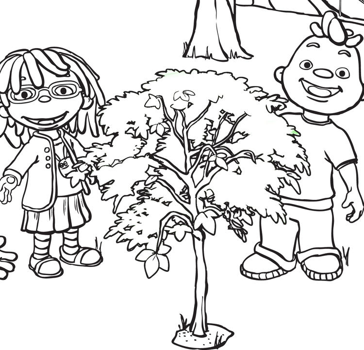Sid The Science Kid Trees Coloring Pages