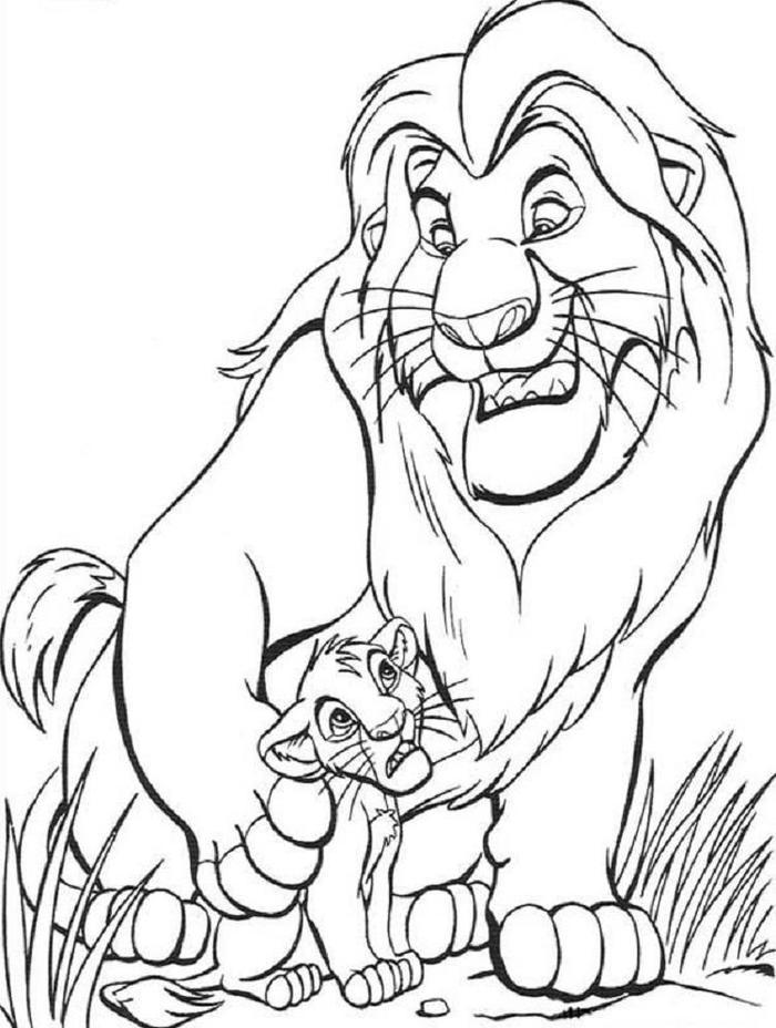 Simba Coloring Pages Free Printable