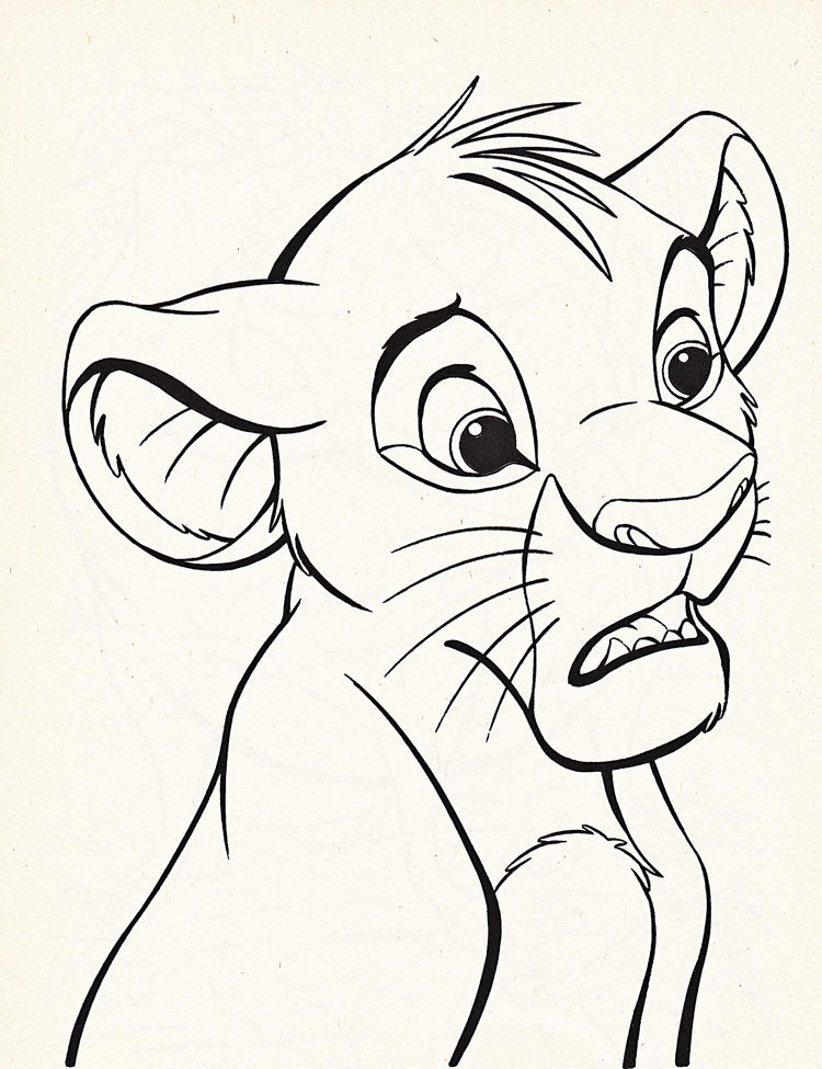Simba Disney Coloring Pages Lion King