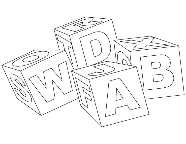 Simple Abc Blocks Coloring Pages