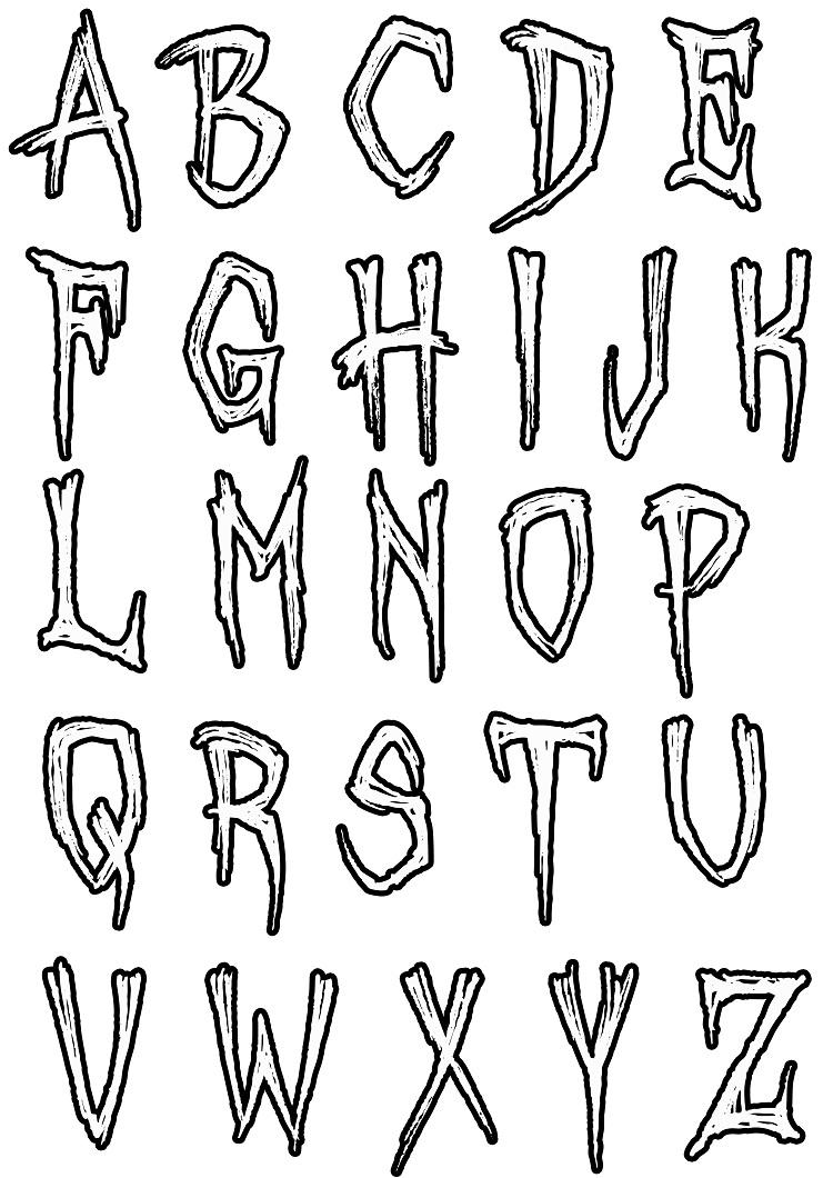Simple Alphabet Coloring Pages