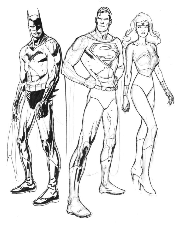 Simple Batman And Superman Coloring Pages