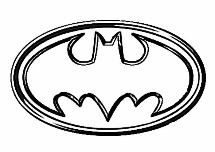 Simple Batman Logo Coloring Page