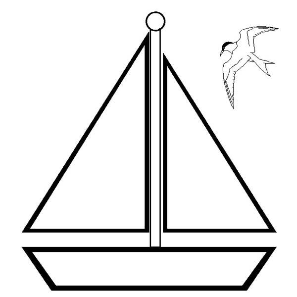 Simple Boat Coloring Pages For Toddler